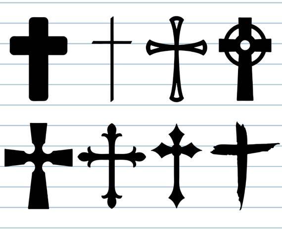 Kreuz Kreuz Clipart Und Svg Christlicher Svg Kirche Svg Etsy