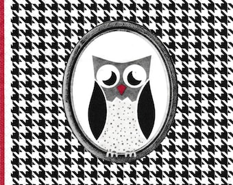 240 small OWL MEDALLION designs 2 X 2 1 lunch size paper towel