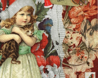 226 the little girl and her cat paper towel