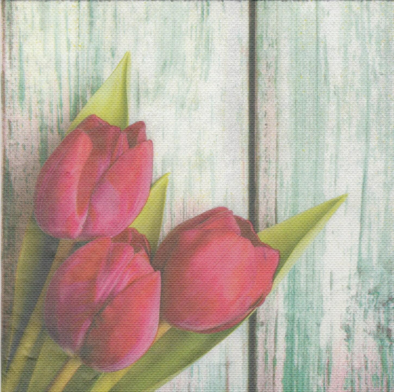 502 tulipes sur bois 1 serviette papier 38 x 38 etsy. Black Bedroom Furniture Sets. Home Design Ideas