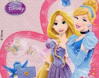 Princess DISNEY 1 lunch size paper towel 487