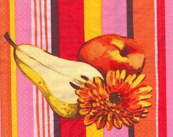 648 PEAR Apple flower 1 towel paper 33 X 33 X 4 design