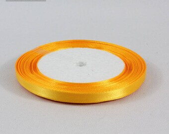 22 m 6 mm yellow gold satin ribbon