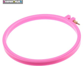 Pink embroidery hoop frame - 17.7 cm