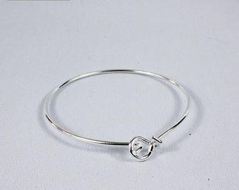 rigid brass 60 mm bangle bracelet