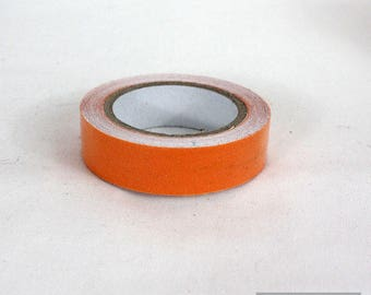 Washi tape 10 mm orange cotton