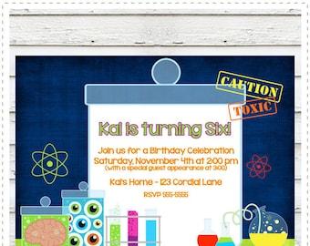 Mad Scientist Birthday Invitation