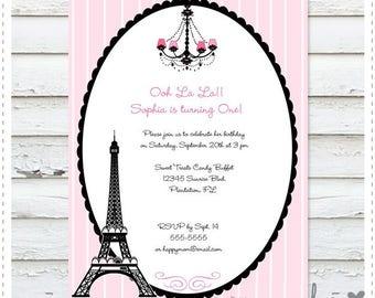 Paris Chic Birthday Invitation