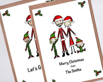 personalized christmas cards etsy