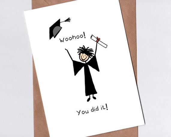 photo about Printable Grad Cards referred to as Downloadable Commencement Card - Printable Congratulations Card