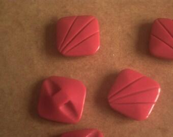 6 red plastic square 18 mm
