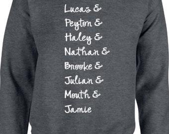 One Tree Hill Characters grey crewneck sweatshirt