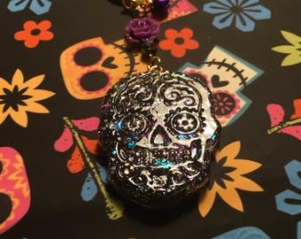 Calavera/SugarSkull//Diade los Mertos/Day of the dead/Iridescent Purple