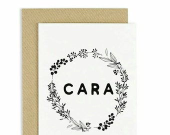 Irish greeting card etsy cara irish greeting card friendship card friendship greeting card irish language irish card handmade card made in ireland m4hsunfo