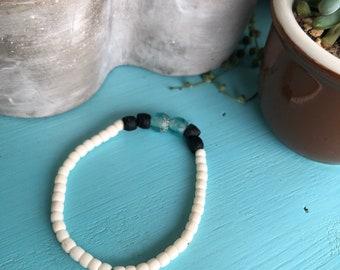 Lotus White Bone Beads