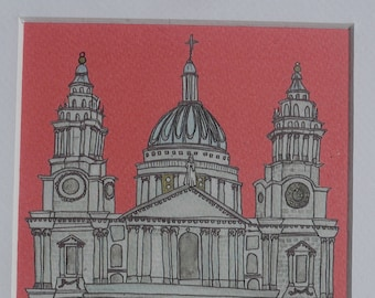 Limited Edition St. Paul's Cathedral Illustration