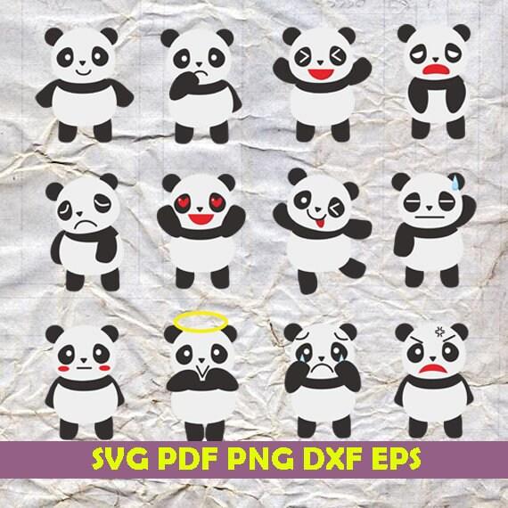 Instant download, cute panda svg, panda svg, panda clipart, panda, panda  dxf, panda png, panda art, cute panda png, cute panda clipart,