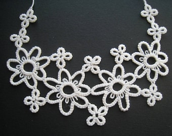 Tatting lace Flower necklace