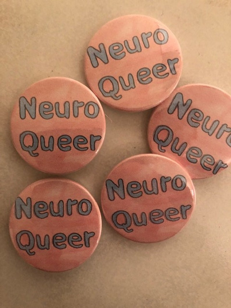 Neuro Queer Pin Badge Button image 0