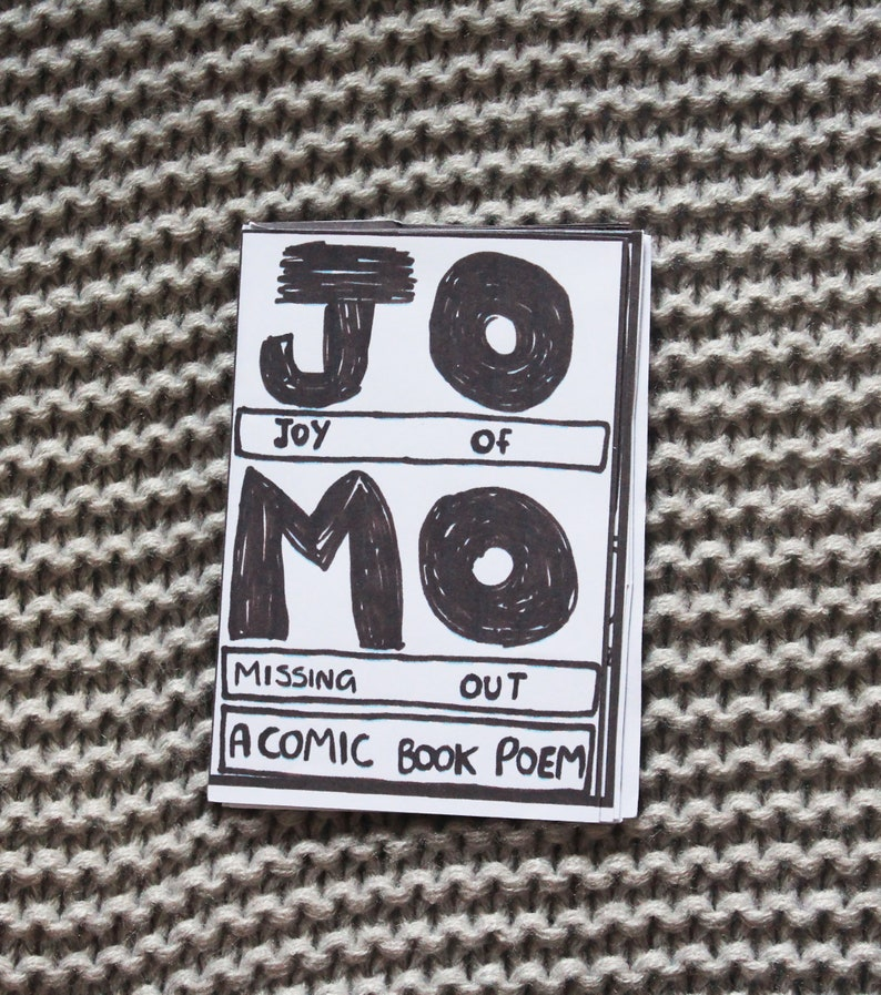 Jomo  Joy of Missing Out Mini-Zine Queer Mental Health Comic image 0
