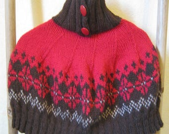 Brown and red collar shoulder amount