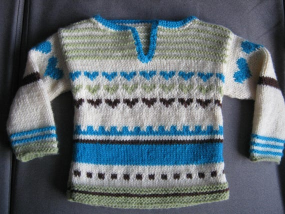 a45d4b5f3396 Folk baby sweater