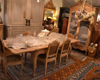 Table 2m60 louis xv provencale decapée brut
