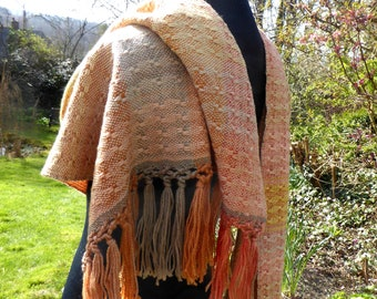 Hand woven natural dyed shawl