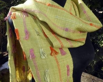 Hand woven luxury silk/alpaca scarf