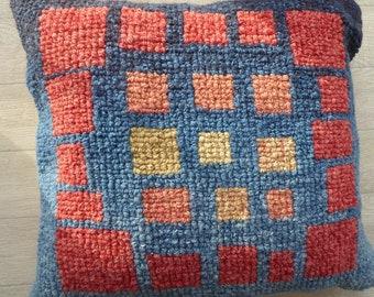 Hand woven 'Fiery Windows'  cushion