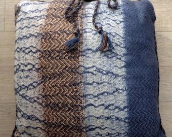 "Hand woven cushion ""Winter Peak"""