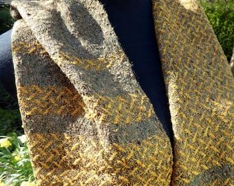 Smart lightweight hand woven unisex silk scarf
