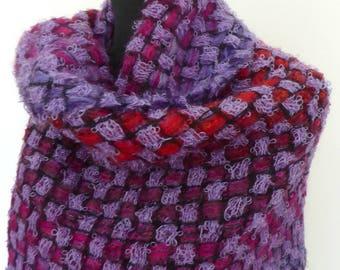 Handwoven winter wrap