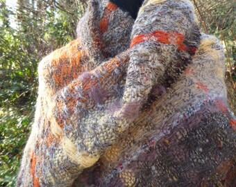 Cosy handwoven mohair wrap