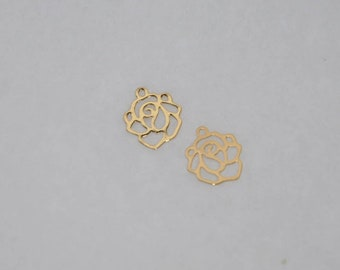 PINK PENDANT Delicate Gold Plated 10 mm