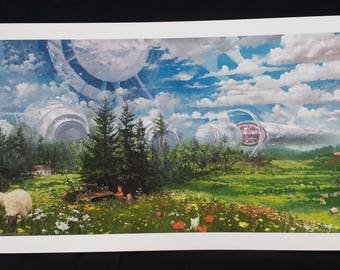 The Powerplant by Zhillustrator, giclee and canvas print from Alterslavia series