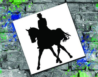 Dressage Silhouette Decal - Horse Gift Decal - Horse Car Decal - Horse Computer Decal - Dressage Horse Decal - Dressage Monogram Decal