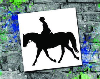 Hunter Flat Silhouette Decal - Horse Car Decal - Horse Computer Decal - Hunter Flat Horse Decal - Hunter Flat Monogram Decal - Horse Gift