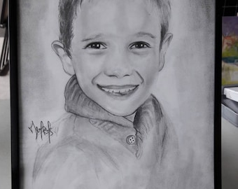 Drawing portrait of your child