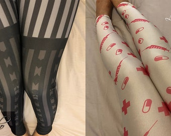 Sweet Classic Lolita Japanese Kawaii Harajuku Alice in Wonderland Two Pairs Tights Pants Leggings Set [S30]