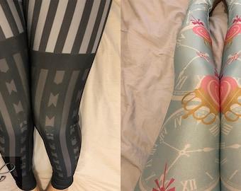 Sweet Classic Lolita Japanese Kawaii Harajuku Alice in Wonderland Two Pairs Tights Pants Leggings Set [S31]