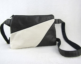 PUNCHI bag faux leather and woven Crossbody