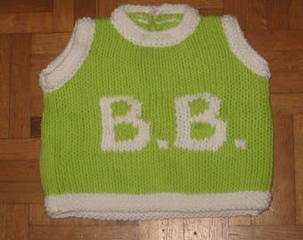 BB-3 month sleeveless sweater