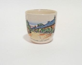 Vintage Luss Village Loch Lomond Souvenir Egg Cup