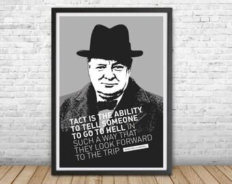 Ritratto di Winston Churchill af0cfb6457de