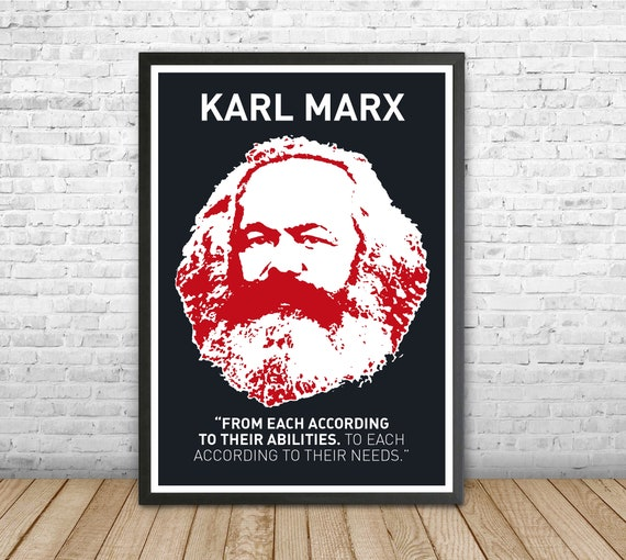 Karl Marx Art Print /'Hope/' Photo Poster Gift Marxism Socialism Communism