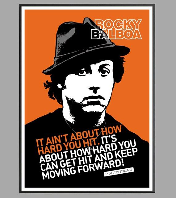 Rocky Balboa Sylvester Stallone Rocky Poster Mancave Gift Philadelphia Apollo Creed Boxing Poster Print 1976 Movie Birthday Gift