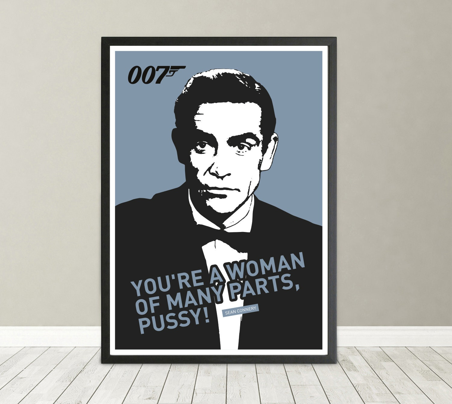 James Bond Sean Connery 007 Goldfinger 1964 Portrait Etsy