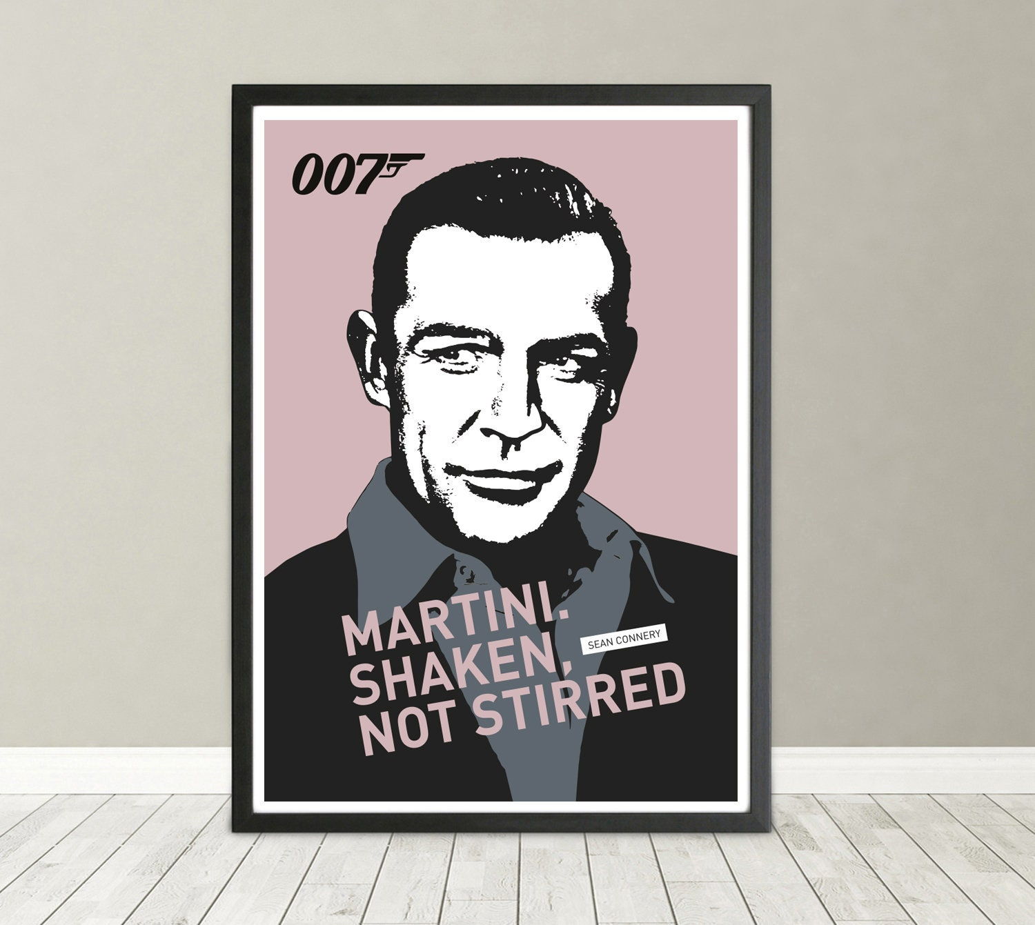 James Bond Portrait Sean Connery 007 Diamonds Are Forever Etsy