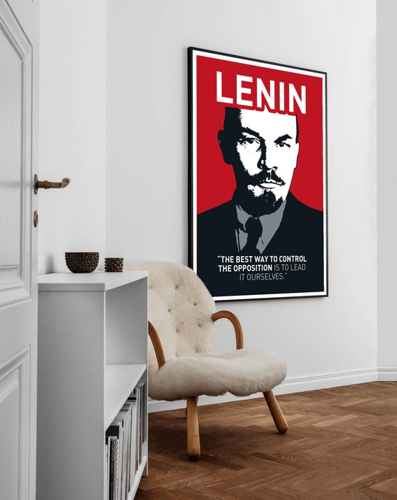 politician Soviet Union communist party Vladimir Lenin Lenin poster birthday gift mancave gift. Russian revolutionary
